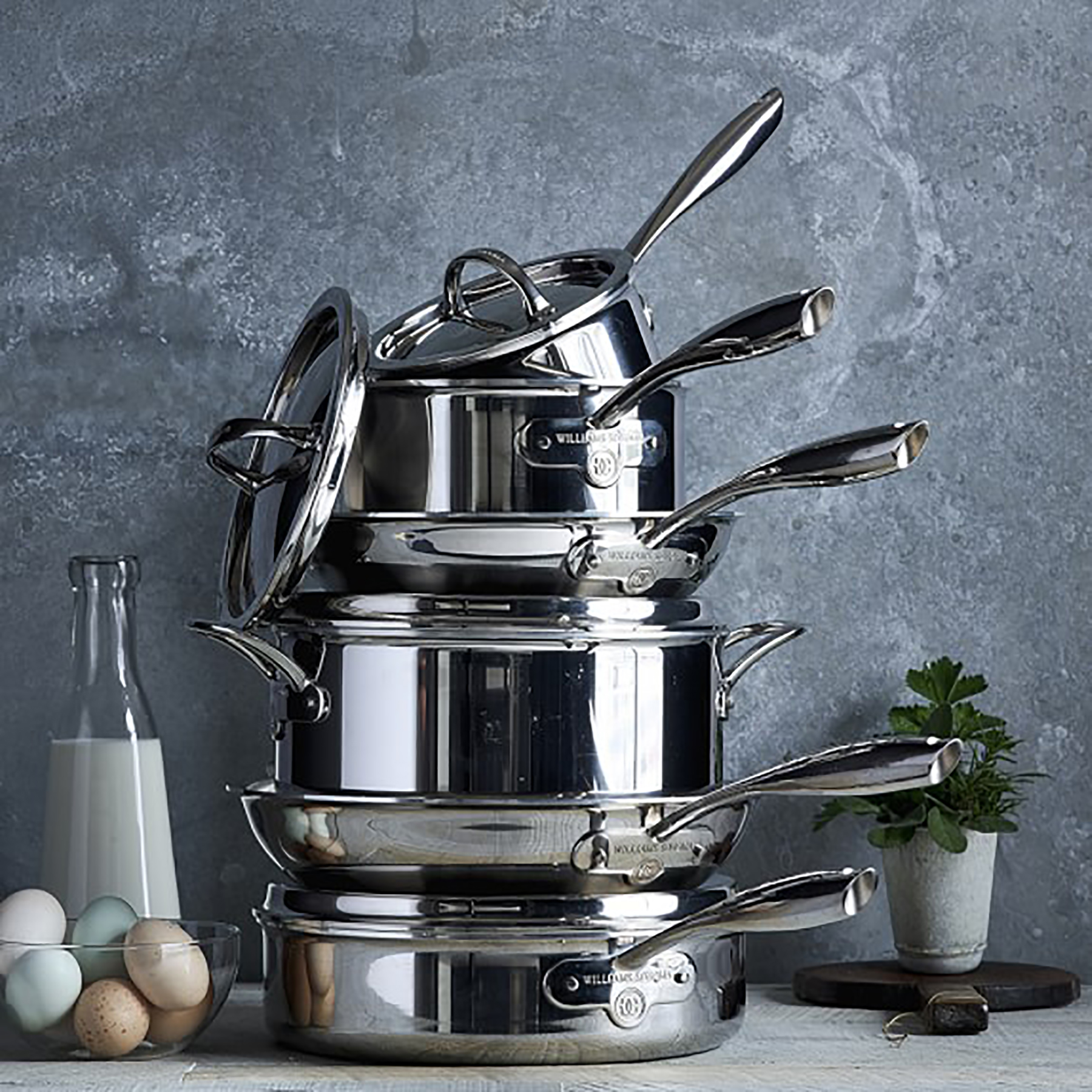 Williams Sonoma Thermo-Clad Stainless-Steel 10-Piece Cookware Set