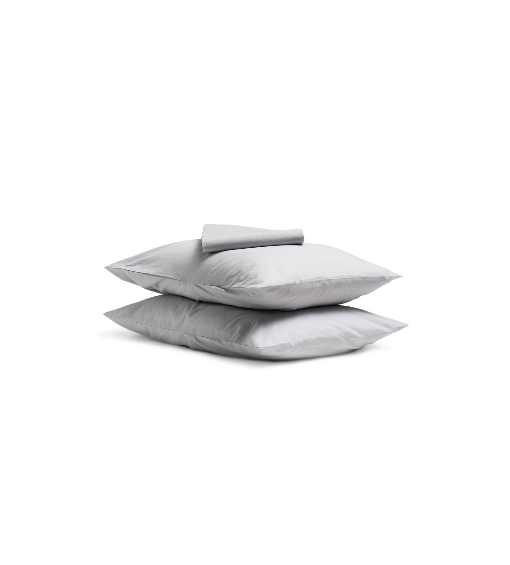 Parachute Percale Sheet Set in Light Grey