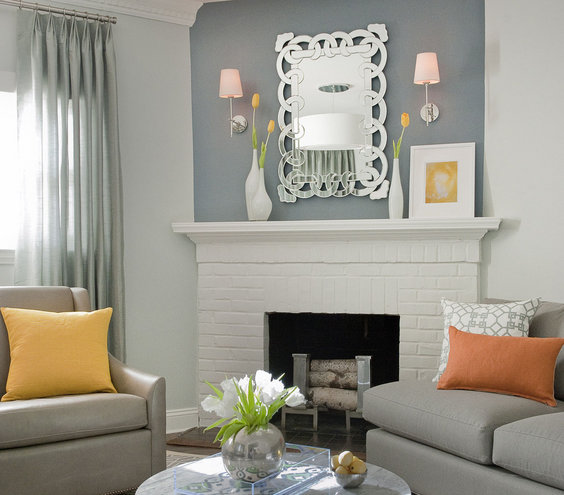 Curtains Ideas curtains for a small living room : Match Your Curtain Color to Your Walls | 16 Decorator Tricks for ...
