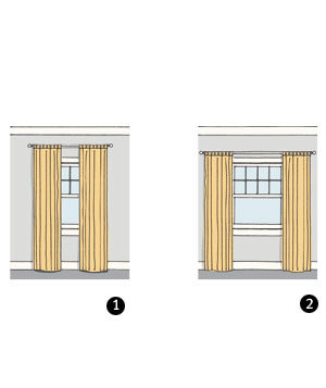 Curtains Ideas curtain placement : Where Should They Be Mounted In Relation to the Window? | Your ...