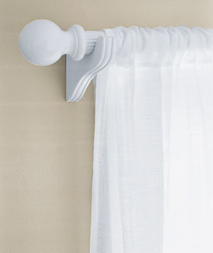 Wood, Metal, or Plastic Curtain Rods   Easy Paint Makeovers   Real ...