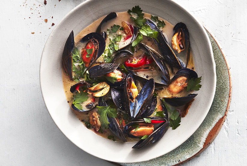 Spicy Steamed Mussels Real Simple