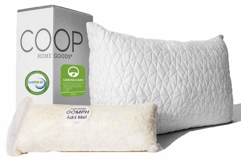 Coop Home Goods Cross-Cut Hypoallergenic Certipur Memory Foam Pillow