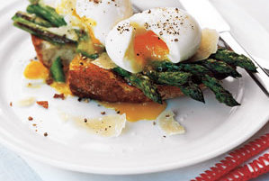 Asparagus and Soft Eggs on Toast Recipe | Real Simple