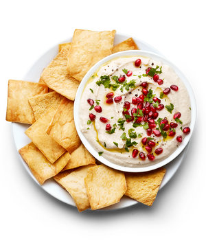 Feta and White Bean Dip With Pomegranate Seeds