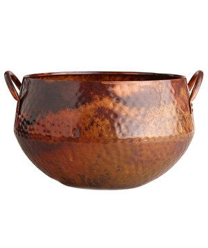 hammered-copper-ice-bucket