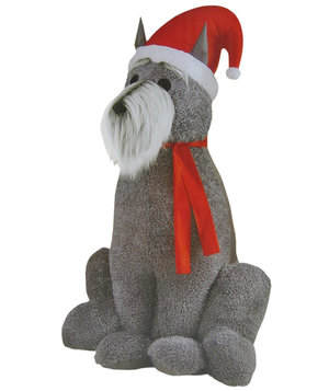 inflatable-furry-schnauzer-dog