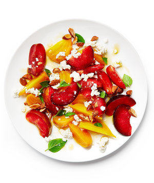 Pluot and Beet Salad