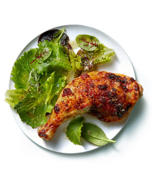 Roasted Chicken Legs With Cranberry Butter