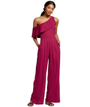 womens-one-shoulder-ruffle-jumpsuit