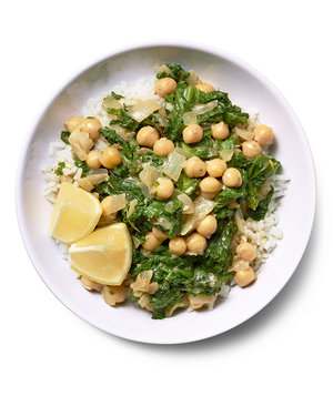 Spiced Chickpeas and Greens