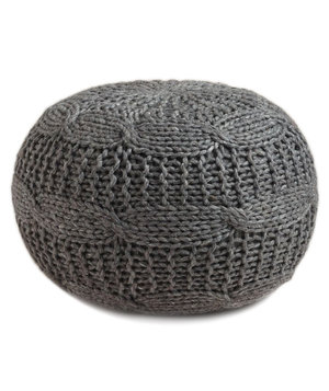 charcoal-heather-gray-sweater-pouf