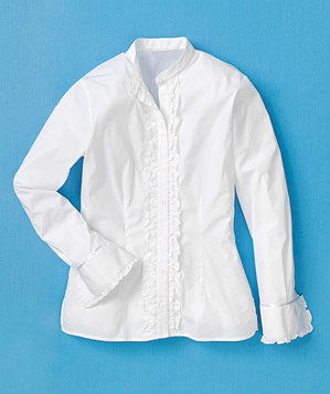 white-banded-collar-blouse