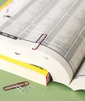 paper-clip-used-to-mark-phonebook