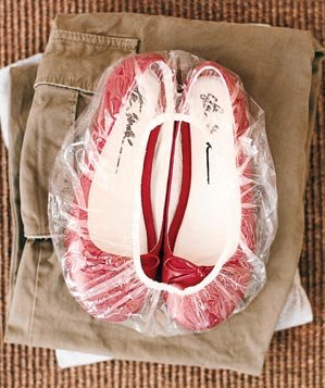red-shoes-clear-plastic-shower-cap