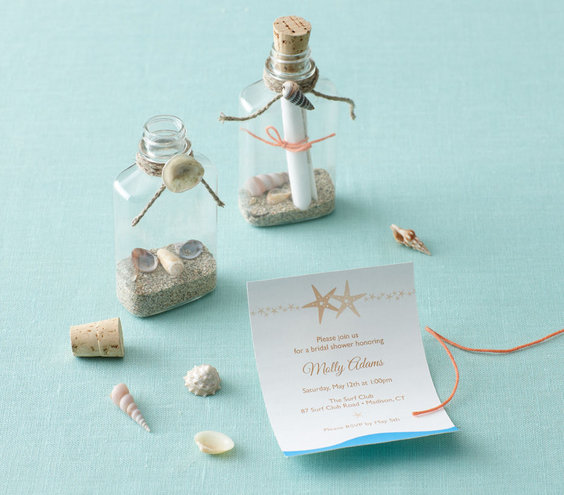 the invitation  bridal shower theme beach party ideas  real simple, Bridal shower invitations