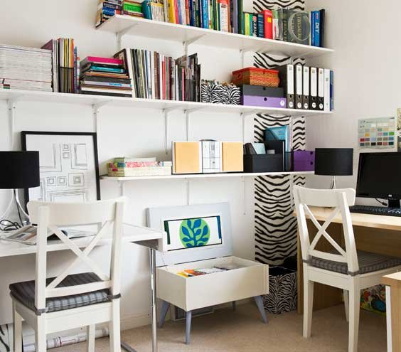 Admirable Office Space 17 Surprising Home Office Ideas Real Simple Largest Home Design Picture Inspirations Pitcheantrous