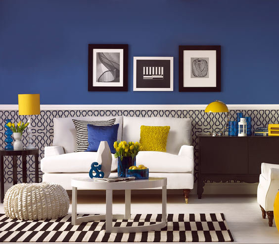 Black White And Blue  Photo  What Your Paint Color Says About You Real  Simple. Black White And Blue Room