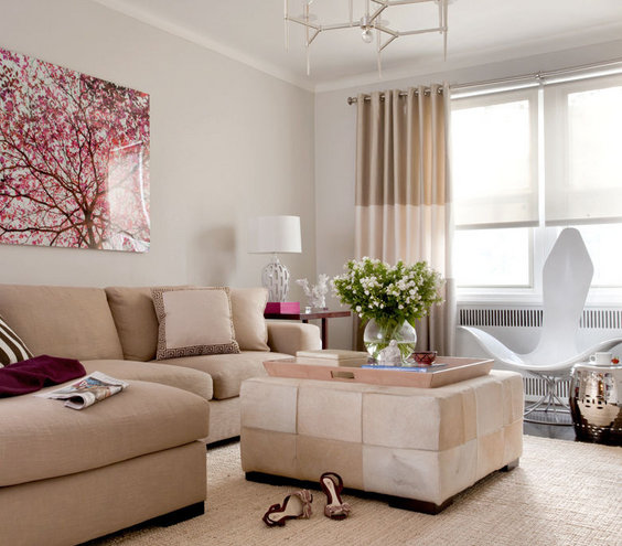 touch of trend   modern living room design ideas  real simple, Living room