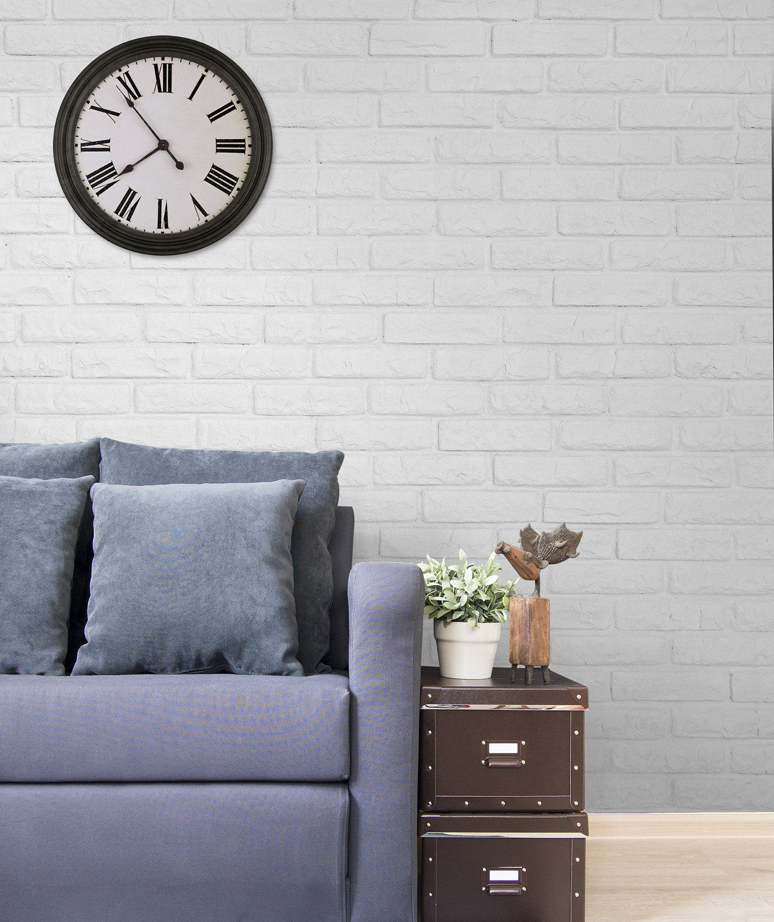 living-room-white-painted-brick-wall