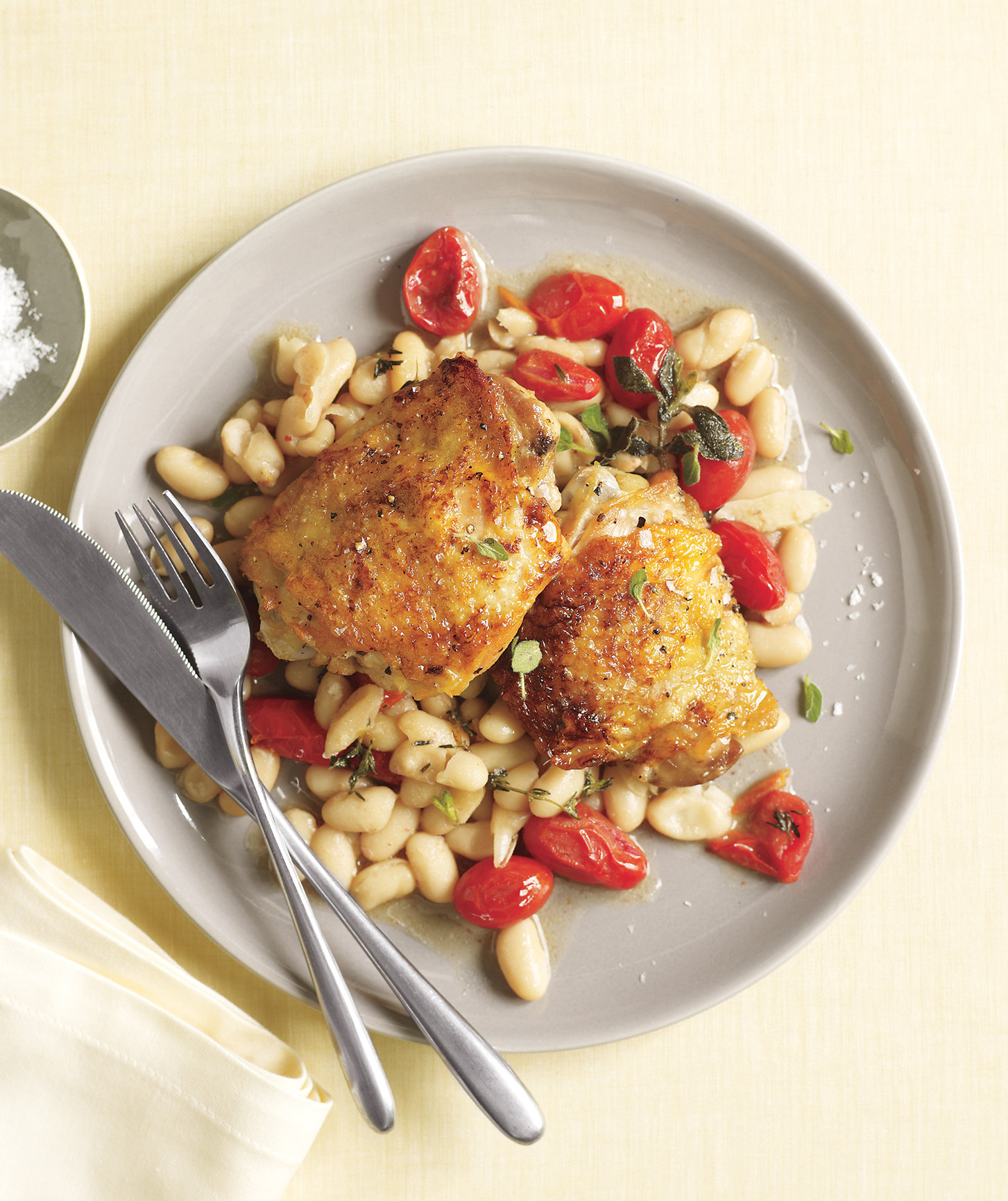chicken--beans-tomatoes