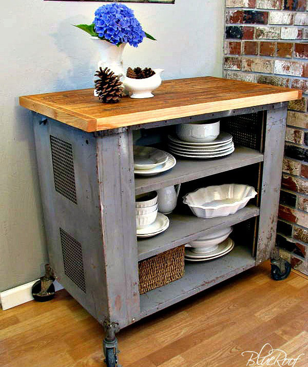 industrial cart   diy kitchen islands to really maximize your, Kitchen design