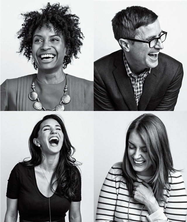 real-simple-staffers-laughing-collage