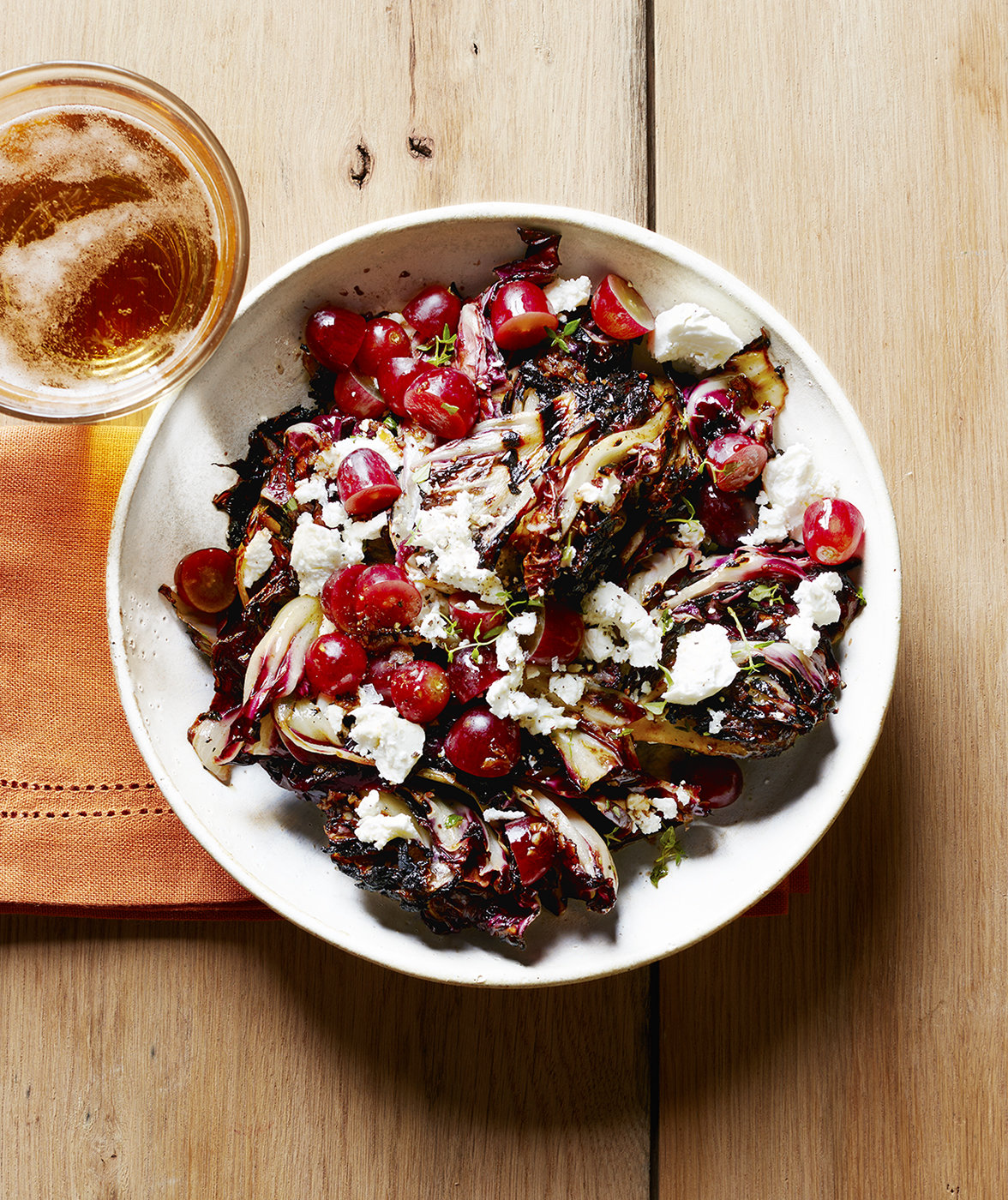 radicchio-salad-goat-cheese-thyme-grapes
