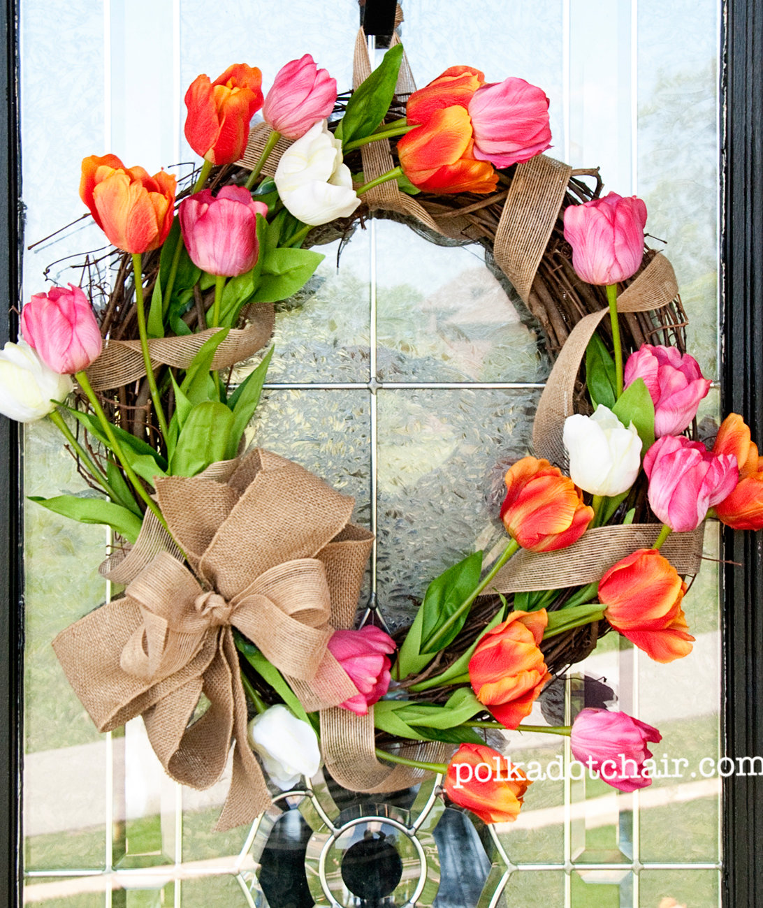 Spring wreath ideas real simple for How to make a spring wreath from scratch