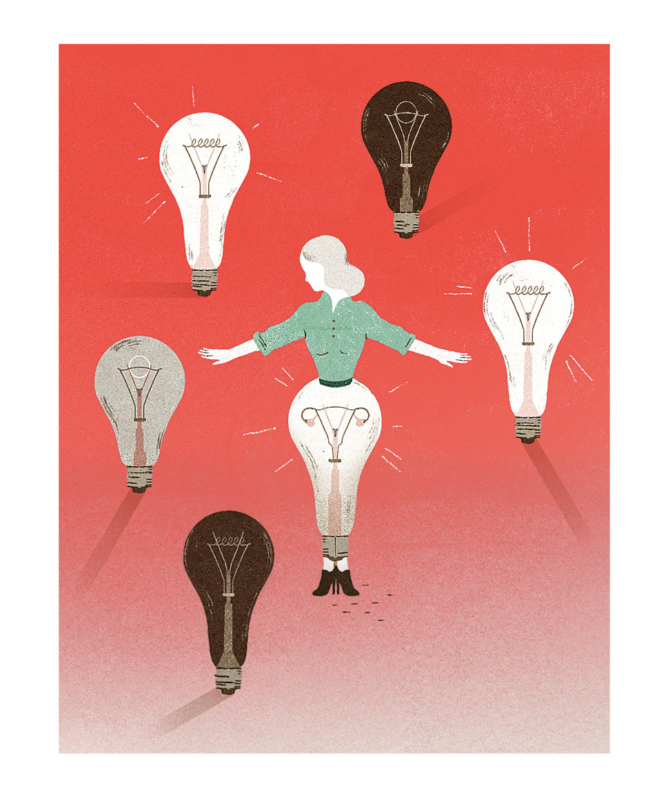 woman-light-bulbs